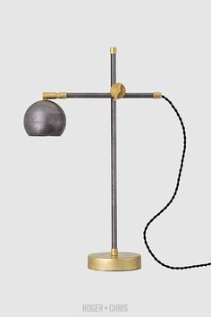 Dan Brass and Steel Desk Lamp from Roger + Chris