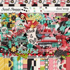 {Doo Wop} Digital Scrapbook Collab Kit by Amber Shaw and Digilicious Design available at Sweet Shoppe Designs http://www.sweetshoppedesigns.com/sweetshoppe/product.php?productid=28951&page=1 #digiscrap #digitalscrapbooking #digiliciousdesign #ambershaw #doowop