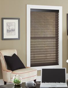 Fashion pleated shades provide added dimension to a room with crisp Z-shaped pleats and textured weaves. www.lutron.com/fabrics