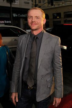 Simon Pegg, one of my favorite actors. There's nothing sexier about a man than a sense of humor.