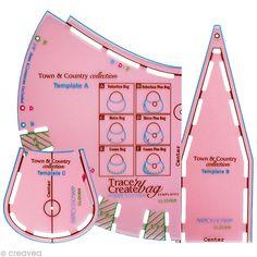 Le gabarit de sac Trace'n'create bag par Clover et Nancy Zieman vous permet de fabriquer jusqu'à 6 modèles de sacs différents sur le thème Ville et campagne. Créer son propre sac personnalisé n'a jamais été aussi simple.