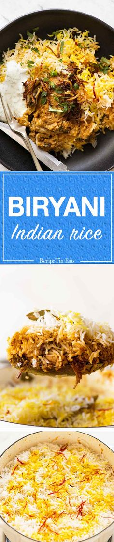 Chicken Biryani - Recipe Tin Eats Fluffy, fragrant rice and curried chicken. Indian Food Recipes, Asian Recipes, Healthy Recipes, Ethnic Recipes, Carrot Recipes, Indian Foods, Spinach Recipes, Potato Recipes, Rice Dishes