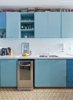 Histórias de casa - Cozinha azul