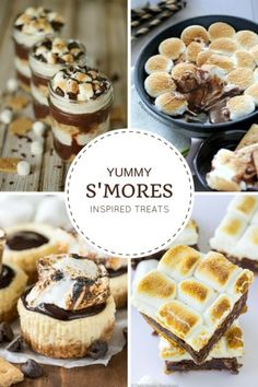 Love the taste of s'mores? You can enjoy it all year round with these s'more inspired treats - no campfire required!