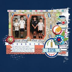 School days page by Justine with products from The Lilypad  #2photos #joycreated