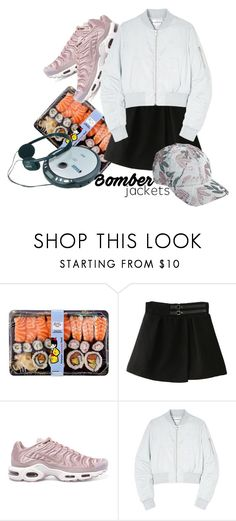 """""""Без названия #329"""" by haomind ❤ liked on Polyvore featuring NIKE, Won Hundred and bomberjackets"""