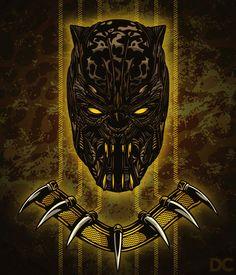 Fan art of Erik Killmonger based from Marvel's Black Panther Black Panther Tattoo, Black Panther Art, Black Panther Marvel, Marvel Villains, Marvel Films, Marvel Heroes, Marvel Vs, Golden Jaguar, Black Panther Chadwick Boseman