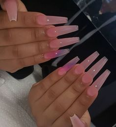 Drip Nails, Bling Acrylic Nails, Simple Acrylic Nails, Best Acrylic Nails, Simple Nails, Bad Nails, Nails Now, Aycrlic Nails, Pink Nails