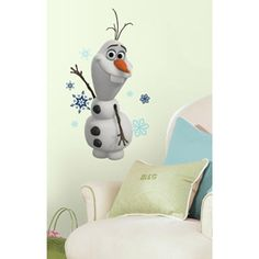 Just peel each decal from the backing and apply it to any smooth surface. RoomMates Wall Stickers Frozen Olaf The Snow Man Peel And Stick Wall Decals RoomMates wall decals are proudly made in the United States, except where otherwise noted. Disney Olaf, Frozen Disney, Olaf Frozen, Deco Disney, Frozen Snowman, Olaf Snowman, Elsa Olaf, Elsa Anna, Disney Fun