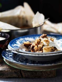 Crumble med nødder og pære - MadOgBolig.dk Mobil