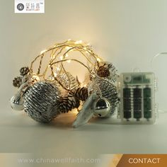 Led Copper Wire String Light In Warm White Color