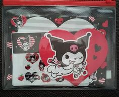 Sanrio Kuromi Heart letter set