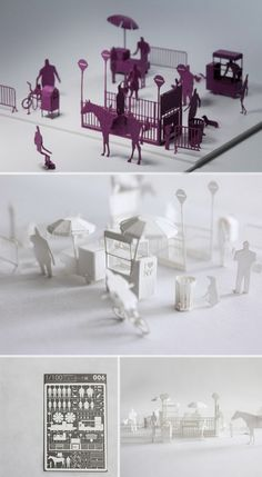 Terada Mokei paper models - I saw these in Tokyo, you can buy the tiny pieces and put them together, could be a good feature.