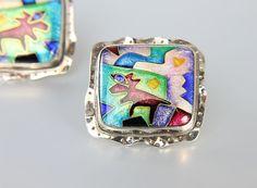 Butterfly Wings & Enamel Jewels #voguet  SOTD by Robert Clough on Etsy