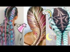 Quick Braids, Cool Braids, French Braid Hairstyles, Braided Hairstyles Tutorials, Hair Dye For Kids, Diy Beauty, Beauty Hacks, Elsa Braid, Top Braid