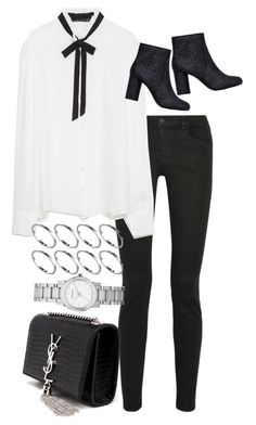 """""""Untitled #8023"""" by nikka-phillips ❤ liked on Polyvore featuring Proenza Schouler, Zara, Yves Saint Laurent, ASOS and Burberry"""