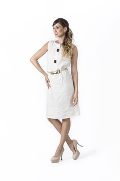 Claudia Suarez - Bosque Paraíso Collection REF: Dress SIZE: Material :linen/rayon Colors:black,green,yellow, Ivory Simple Dresses, Shop Now, White Dress, Dressing, Ivory, Crop Tops, Elegant, Yellow