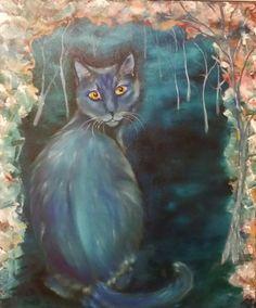 Blue Xena Oil on canvas Anne Karin Stølan