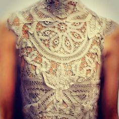 """SS16 Battenburg lace dress detail"" Photo taken by @bora_aksu on Instagram, pinned via the InstaPin iOS App! http://www.instapinapp.com (10/15/2015)"