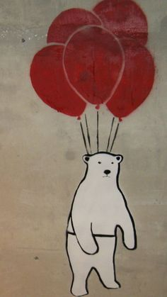 Billedresultat for polar bear balloon