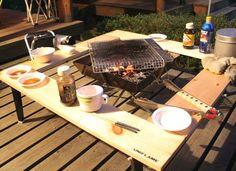 キャンプへ行きたい:囲炉裏テーブル 自作