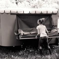Take just a minute to get your bed folded up and be ready for new adventures Rv Living, Outdoor Living, Trailer Plans, Nature Activities, Teardrop Trailer, Rv Campers, New Adventures, Folded Up, Tent Camping