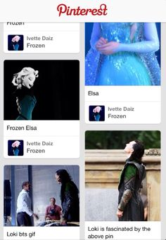 This is proof that Pinterest ships them together. Loki and Elsa. :)