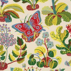 Schumacher EXOTIC BUTTERFLY Fabric Buy The Yard by FabricAlley7