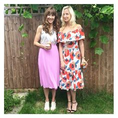 We heart the midi skirt {and drinks in jam jars with stripey straws} #latergram #partytime