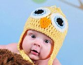Baby Chick Hat - Newborn Beanie Boy Girl Costume Halloween Thanksgiving Photo Prop Christmas Gift Summer Outfit