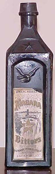 Antique Cabin Bitters Bottle Hall of Fame