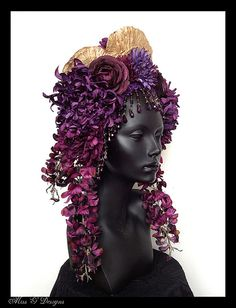 MADE TO ORDER  Flower Headdress with Beaded by MissGDesignsShop