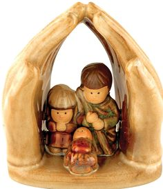 """[""""This sweet nativity figurine is a perfect reminder of the true power of the Christmas story. The holy family gathers, protected by an arch created by God's hands. Their angelic, child-like faces give this depiction an adorable look, while the overreaching hands demonstrates the comfort and shelter that God offers all of us.Figurine measures 3-1\/4\""""(W) x 3-1\/2\""""(H).""""] $3.99"""