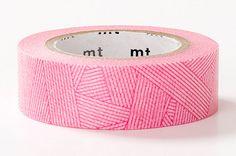 Meshy Magenta Red - DECO Series - Japanese mt Washi Masking Tape - Kawaii Collage, Gift Wrapping - JapanLovelyCrafts