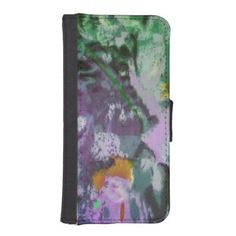 Watercolor Abstract Design Phone Wallet