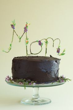 Floral Mom Cake Topper DIY - Oh Happy Day!