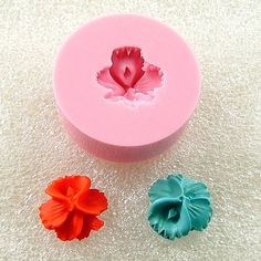 Orchid Cabochon Flexible  Silicone Mold Mould 11mm for by MoldMuse, $4.50