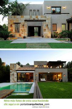 Modern House Facades, Modern Exterior House Designs, Modern Home Design, Dream House Exterior, Exterior Design, Modern Architecture, Modern Houses, House Outside Design, House Front Design