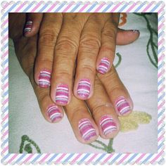 Nails rayas