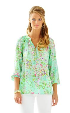 Elsa Top - Southern Charm - Lilly Pulitzer Poolside Blue Southern Charm New #southerncharm, #lillyelsa