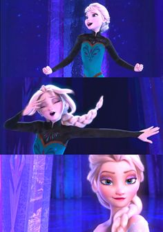 Elsa from Frozen...my favorite scene, Elsa's transformation. She was so sassy! Plus, the song is amazing.