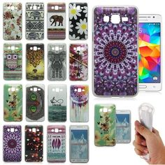 New Soft Rubber Skin Case Cover Back For Samsung Galaxy Grand Prime G5308W G530H #Unbrand