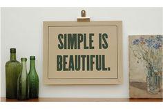 beautifully simple.