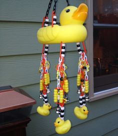 Duck and Bell Hanging Sugar Glider Toy by GamersWithGliders