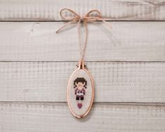 This little doll is holding her favorite stuffed animal owl, and turned out so sweet. The adorable little hoop worked perfectly, and this little lady became the perfect cross-stitch ornament. Owl Pet, Bothy, Little Doll, Cross Stitch Embroidery, Needlework, Hoop, Ornament, Photo And Video, Animal