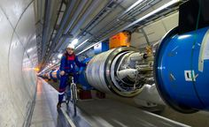 In order for technicians to get around the 27-km tunnel that houses the LHC, various methods of transportation must be employed. October 24, 2005 (Maximilien Brice/© 2012 CERN)