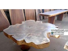 Btbl1-13 Natural Wood Table Bali Indonesia