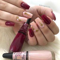 Color Bordo, Luxury Nails, Pretty Nail Art, Beautiful Nail Designs, Perfect Nails, Mani Pedi, Simple Nails, Manicure And Pedicure, Nail Artist