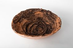 Earth bowl, 2015, Mixed clays, oxides, and glaze