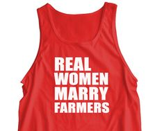 """New """"Real Women Marry Farmers"""" UNISEX Tank Top for Wife, Husband, Boyfriend, Girlfriend, Wedding, Birthday, Christmas, Party, Brother S-2XL on Etsy, $16.95"""